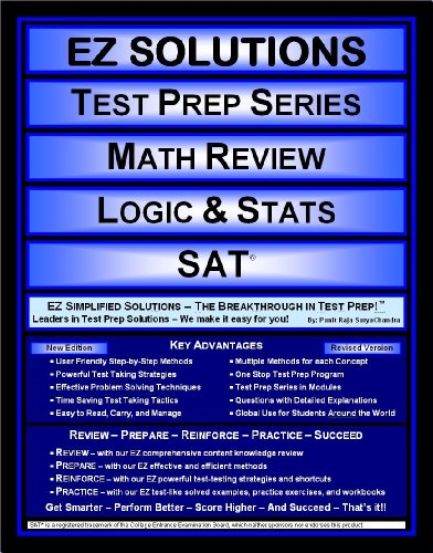 EZ Solutions - Test Prep Series - Math Review - Logic & Stats - SAT (Edition: Updated. Version: Revised. 2015)