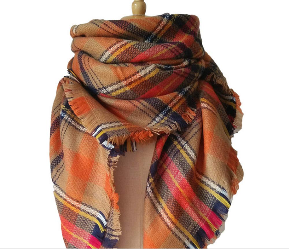 YHC Woman's Eternal Style Scarf, Classic Elegant Carpet Lattice Scarf by YHC (Image #7)