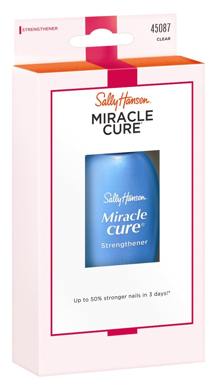 Sally Hansen Miracle Cure Strengthener Clear 0.45 Ounce (13.3ml) (2 Pack)