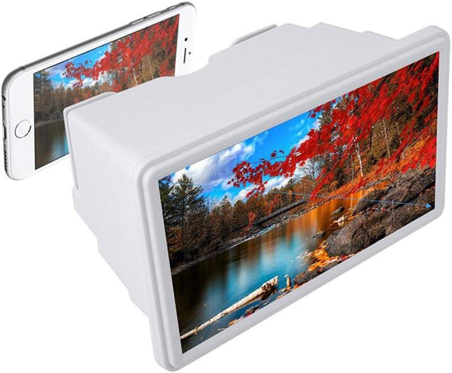 GJWHENS Lupa de Pantalla, Sistema de ampliación Smartphone Visualización de Pantalla Que es Dos Veces más Grande de teléfono Celular de Pantalla 3D Lupa Ampliar vídeo Película,Blanco: Amazon.es: Hogar