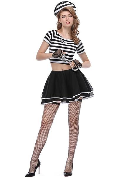 Amazon.com: hibuyer Prisone de rayas para mujer falda ...