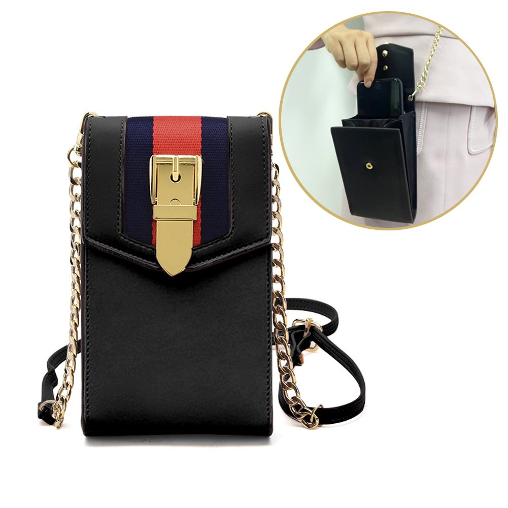 iPhone 7plus Wallet Case Cell Phone Pouch Cell Phone Purse Small Crossbody Shoulder Bag with Card Holder Slot for iPhone 8 8plus 7 7plus 6S 6 6plus