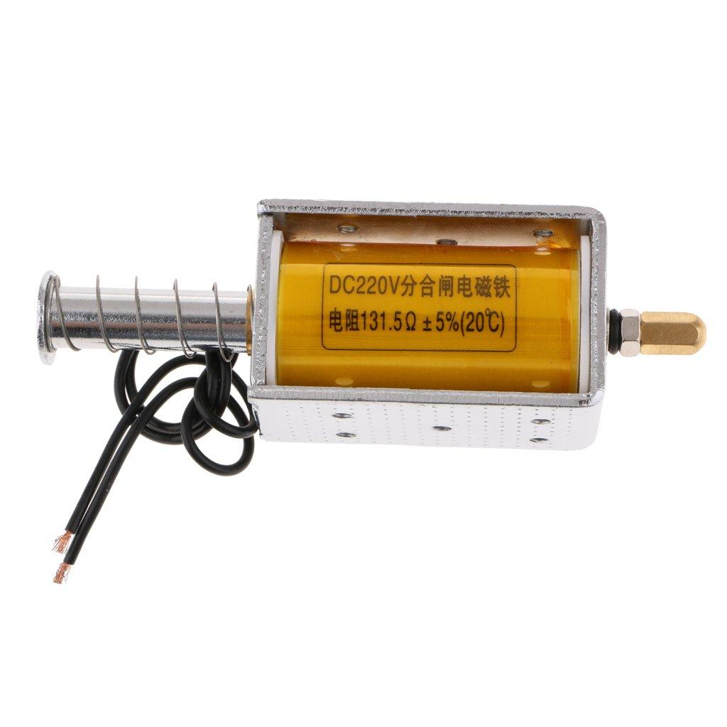 Homyl Powerful Push Pull Type DC 220V frame Type DC electromagnet 34.5mm 20N 2KG for Office Facility Household Appliance, Mechanical