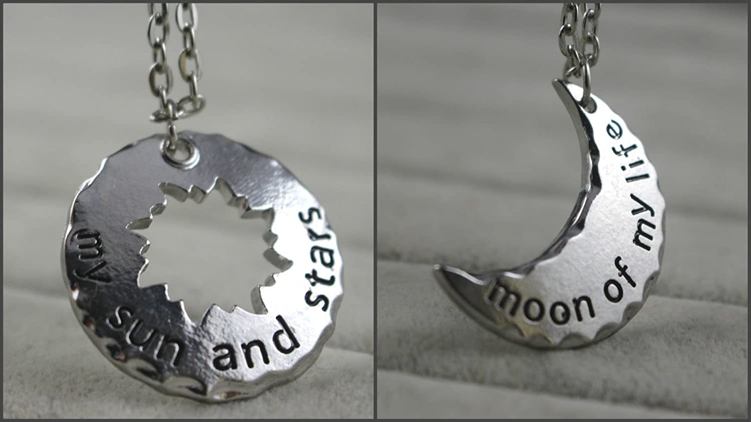 Amazon.com: Couple Necklace My Sun and Stars/moon of My Life Khal ...