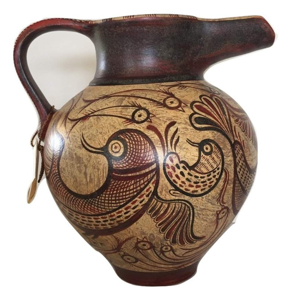 Minoan Art Pottery Amphora Vase - Birds - Ancient Crete Greece