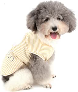 Chaleco de Chihuahua de algod/ón Suave para Cachorros Camiseta a Rayas para Verano Zunea Camiseta para Perros peque/ños y Gatos