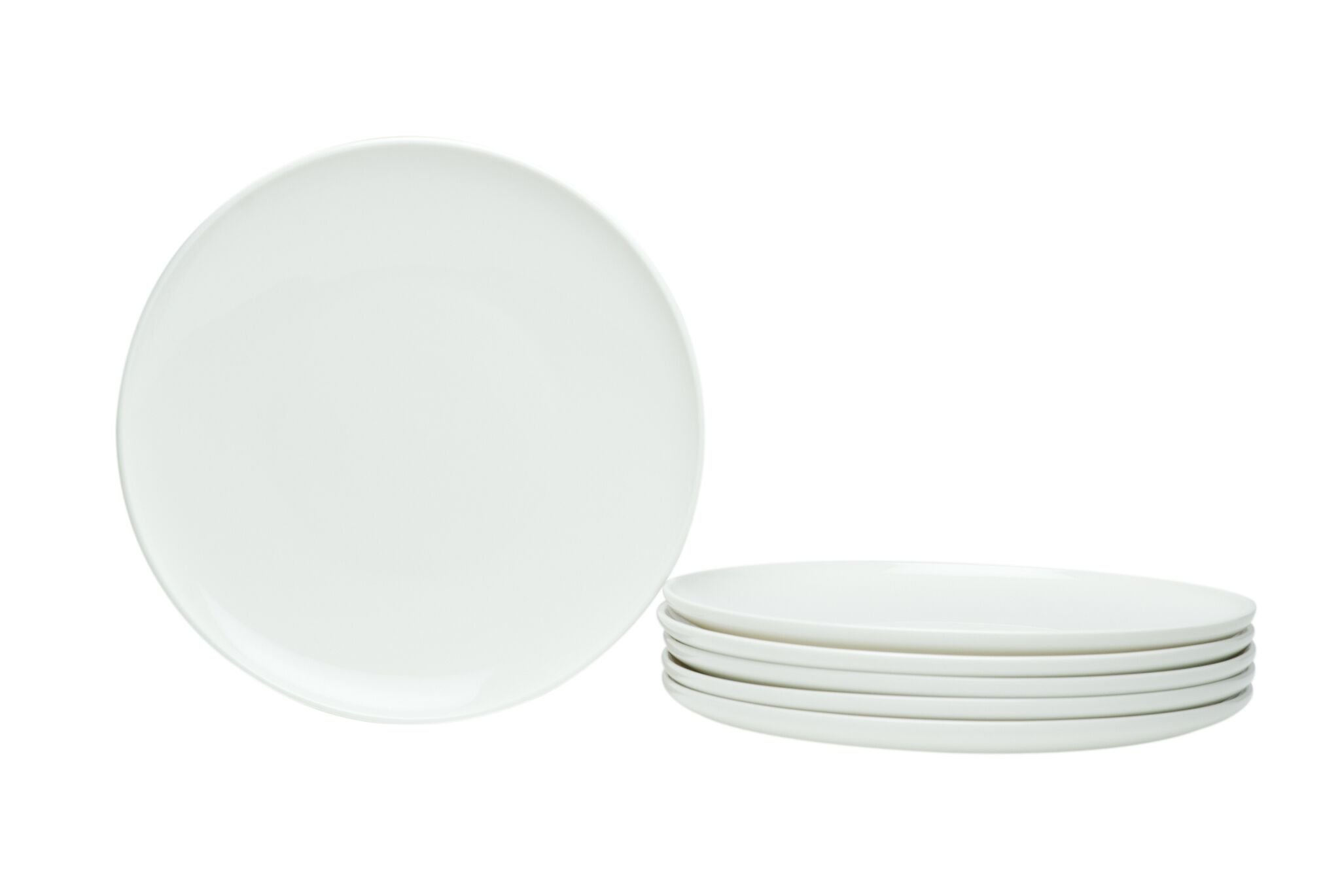 Red Vanilla Every Time Coupe Salad Plate, Set Of 6, 8.5'', White