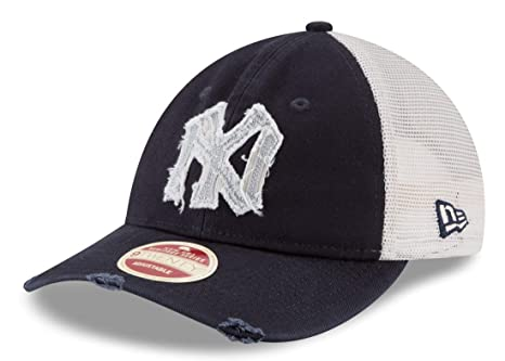 3267f6a5903 Image Unavailable. Image not available for. Color  New Era New York Yankees  MLB 9Twenty Cooperstown Frayed Twill Mesh Back Hat