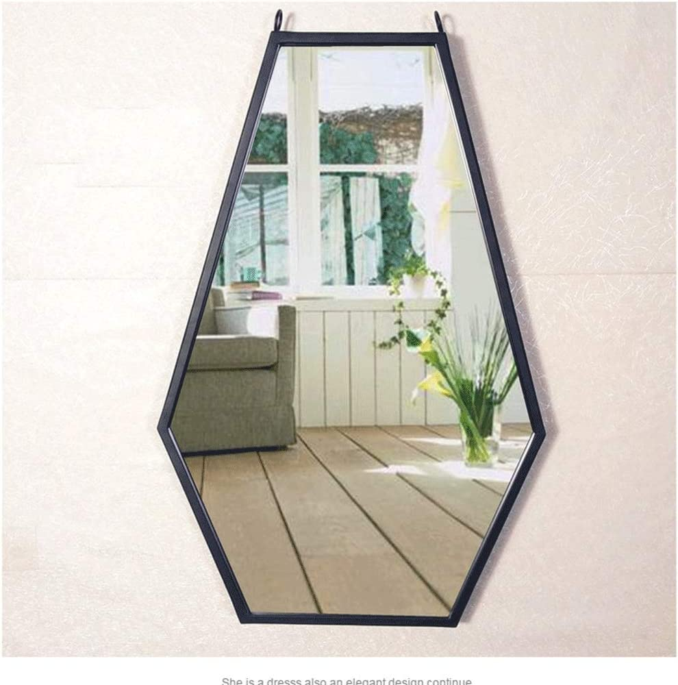 Mirror Bathroom Hexagon Framed Toughened Glass Modern Simple Design Art Deco For Bedroom Living Room Hallway Any Room Anti Fog Color Rose Gold Size 40 60cm Amazon Co Uk Kitchen Home