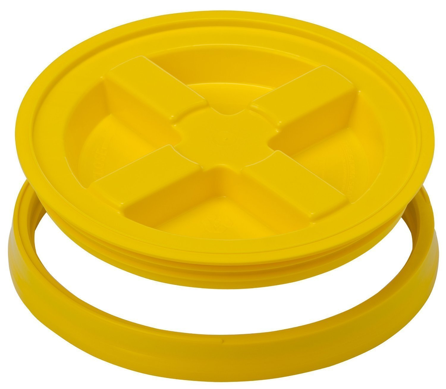 Gamma Seal Lid - Yellow - For 3.5 to 7 Gallon Buckets or Pails Gamma2