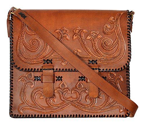 Sparsh Craft Mens Leather 14 Inch Shoulder Bag One Size  Hardcode  Brown