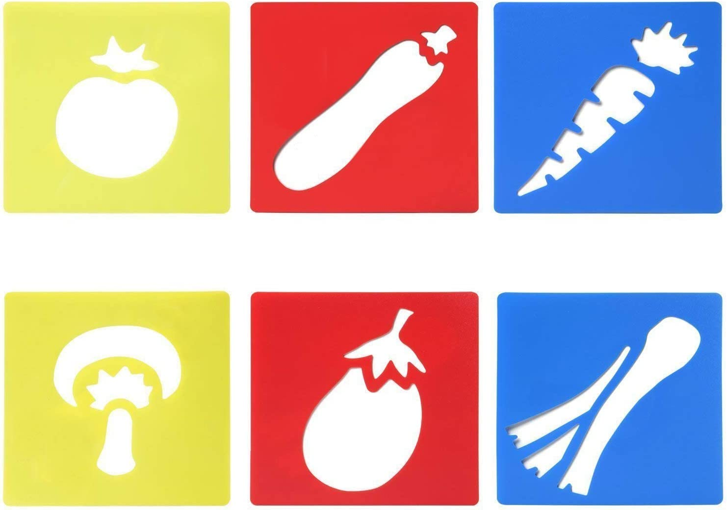 By TRIXES 6PC Assorted Vegetable Stencils