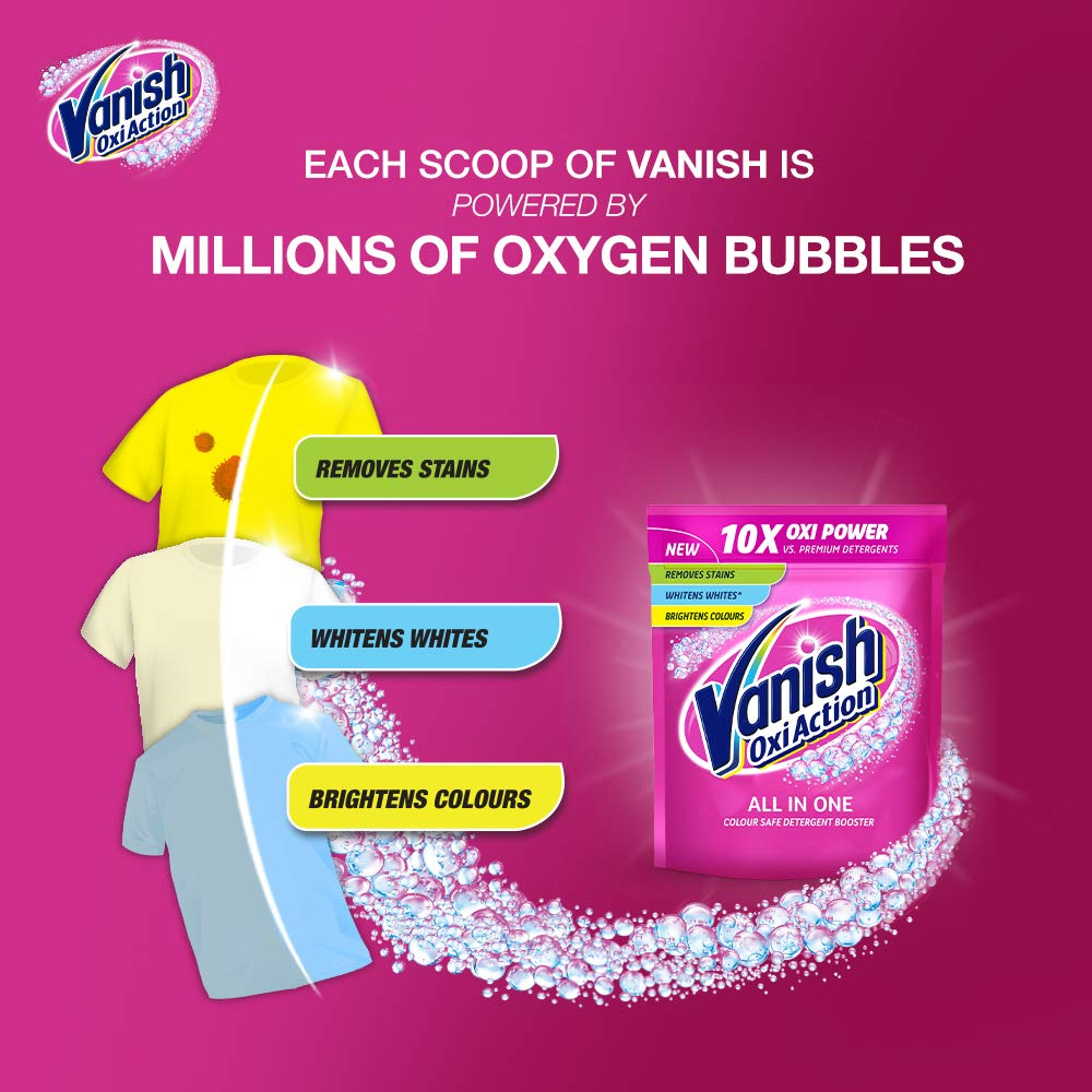 Vanish Oxi Action Fabric Stain Remover, Powder - 400 g