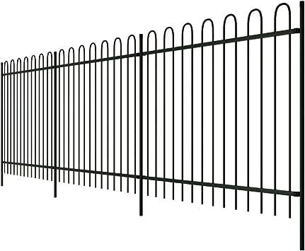 Zora Walter recinto palizzato hacer de acero negro punta ad Anillo 150 cm Valla Jardín Barriere exterior Valla metálica staccionate acero kit Valla exterior: Amazon.es: Bricolaje y herramientas