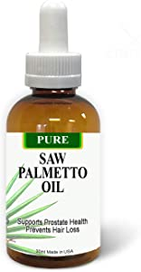 Pure Saw Palmetto Berries Oil 30ml Organic & Natural 60-90-day Supply Unlike Inefficient Powders, Supports Prostate Health Sleep Better Reduce Frequent Urination DHT Blocker Help Stop Hair Loss