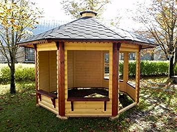 Cenador de madera de jardín de 9,9 m²: Amazon.es: Bricolaje y ...