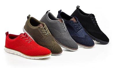 bb7a74497f Amazon.com   Franco Vanucci Men's Knit Fabric Oxford Shoes Size:11.5 ...