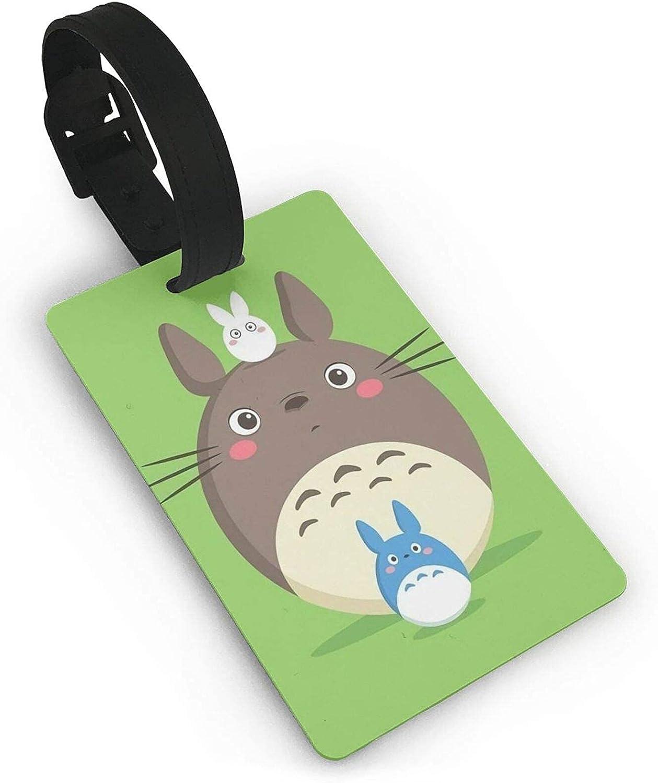 My-Neighbor-Totoro Anime Etiqueta de equipaje maleta titular de la tarjeta de visita documentos de viaje personalizados etiqueta de equipaje PVC 5,4 cm x 8,5 cm