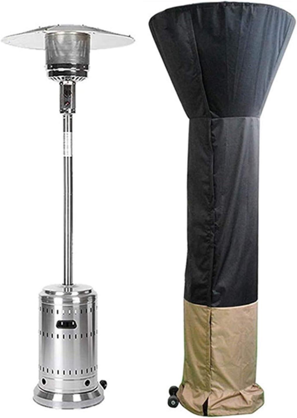 WZJ-방향 열 반사판 파티오 히터 커버 방수 방풍 방진 및 자외선 보호 지퍼와 야외 히터 커버 드로스트링 (색상 : 블랙 + 커피 크기 : 2409259CM)