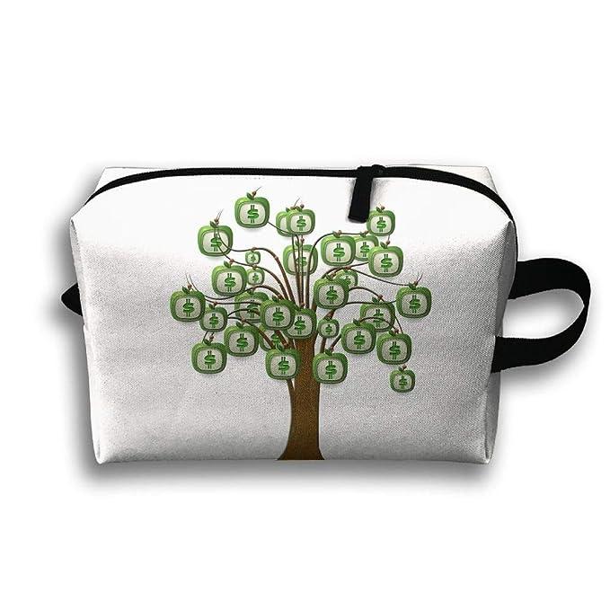 Amazon Com Travel Cosmetic Bag Dollar Money Tree Unisex Makeup Bag