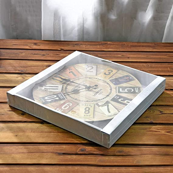 Amazon.com: Lecimo Solid Wood European Retro Clock Color Digital Wall Decorative Clock Vintage Wood Wall Clock: Arts, Crafts & Sewing