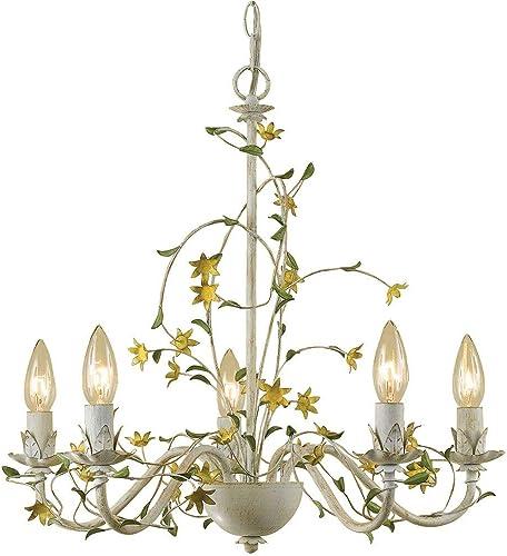 AF Lighting 7046-5H Grace Five-Light Star Flower Chandelier
