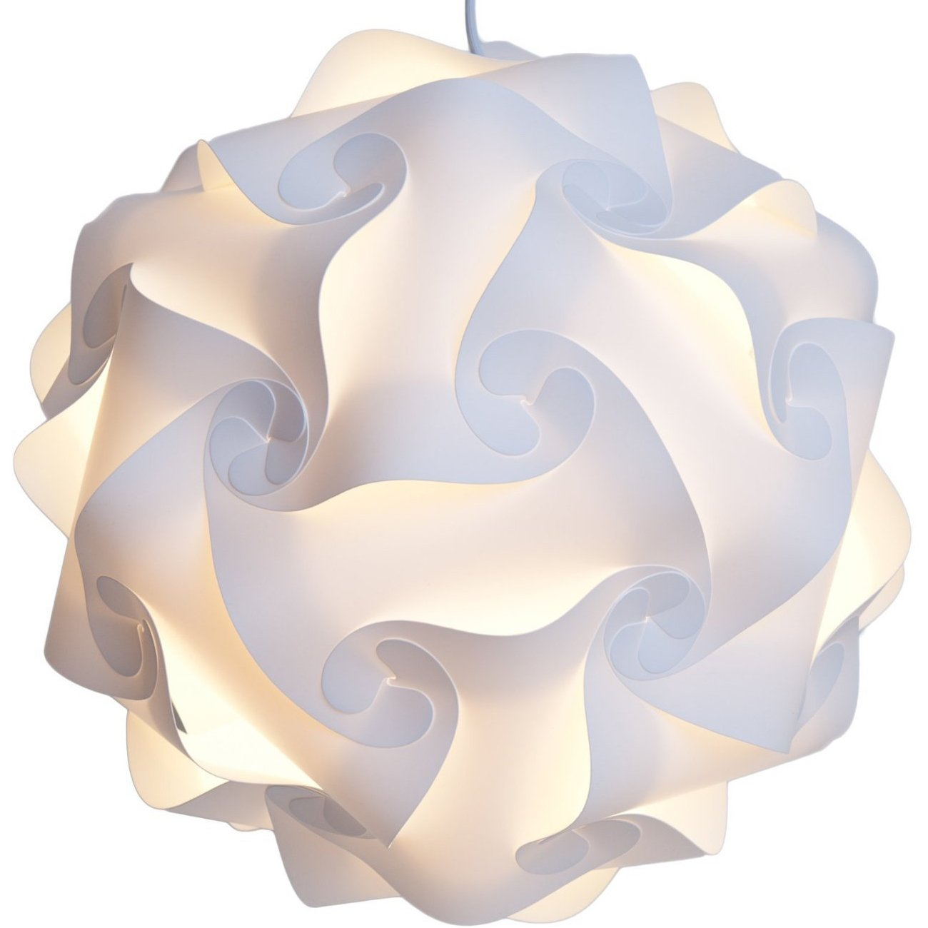 Amazon.com: Lightingsky IQ Lamp Shade Toy Self DIY Assembled Puzzle Lights  For Room Decoration (White, XL 16 Inch): Home U0026 Kitchen