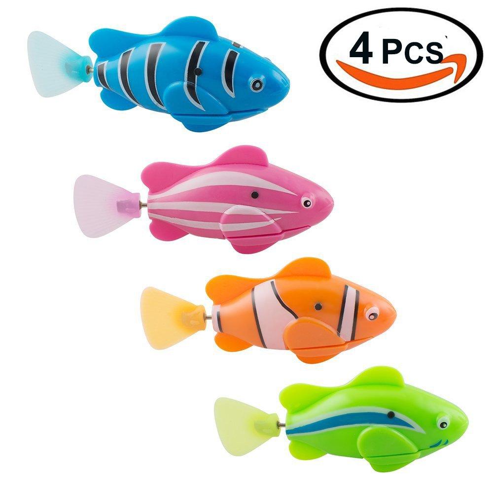 Giocattolo elettronico vivente Mini pesca robotica nuoto pesce del robot per i bambini 4PCS Twshiny