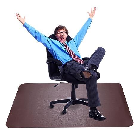 Amazoncom Brown Office Chair Mat For Hardwood Floors Best Desk