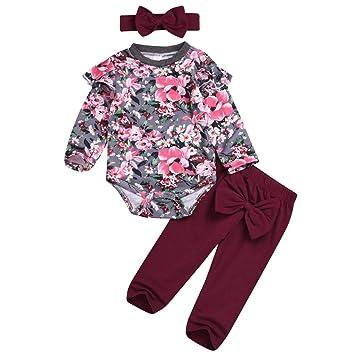 Tronet Toddler Kids Girls Halloween Cartoon Print Tops Bow Skirt+Headband Infant Baby Halloween Outfiit