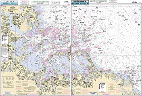 Inshore Boston Harbor, MA - Laminated Nautical Navigation & Fishing Chart by Captain Segull's Nautical Sportfishing Charts | Chart # BH102 (Chart Boston Harbor)
