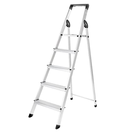Bathla Prime 5-Step Aluminium Ladder-Black