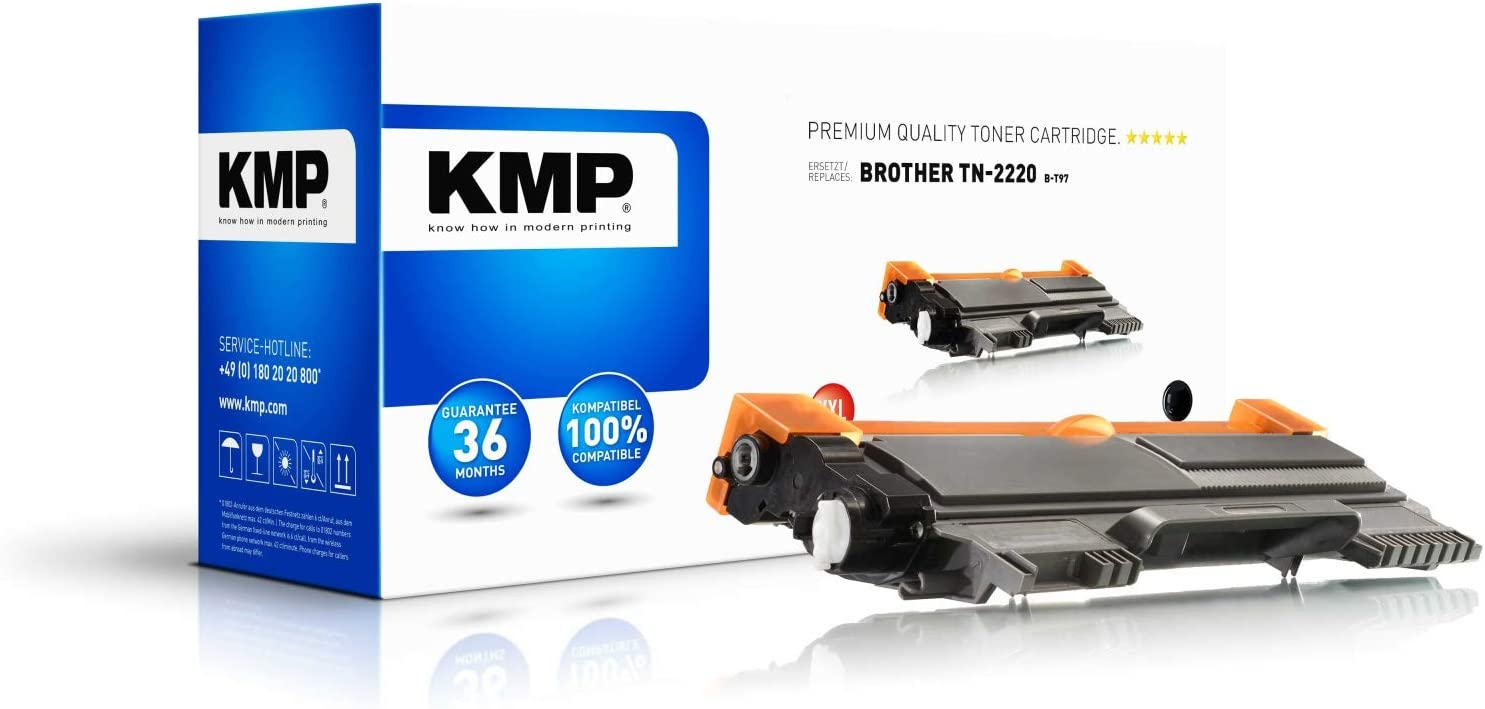 Kmp Toner For Brother Tn2220 Black B T97 Bürobedarf Schreibwaren
