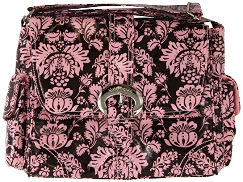 Kalencom Midi Coated Diaper Buckle Bag, Toile Chocolate/Pink