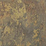 Solid Marble Medium Slate Marble Vinyl Floor Tiles Self Stick Peek Flooring 12'' x 12'' 4-Pack (80 Pieces)