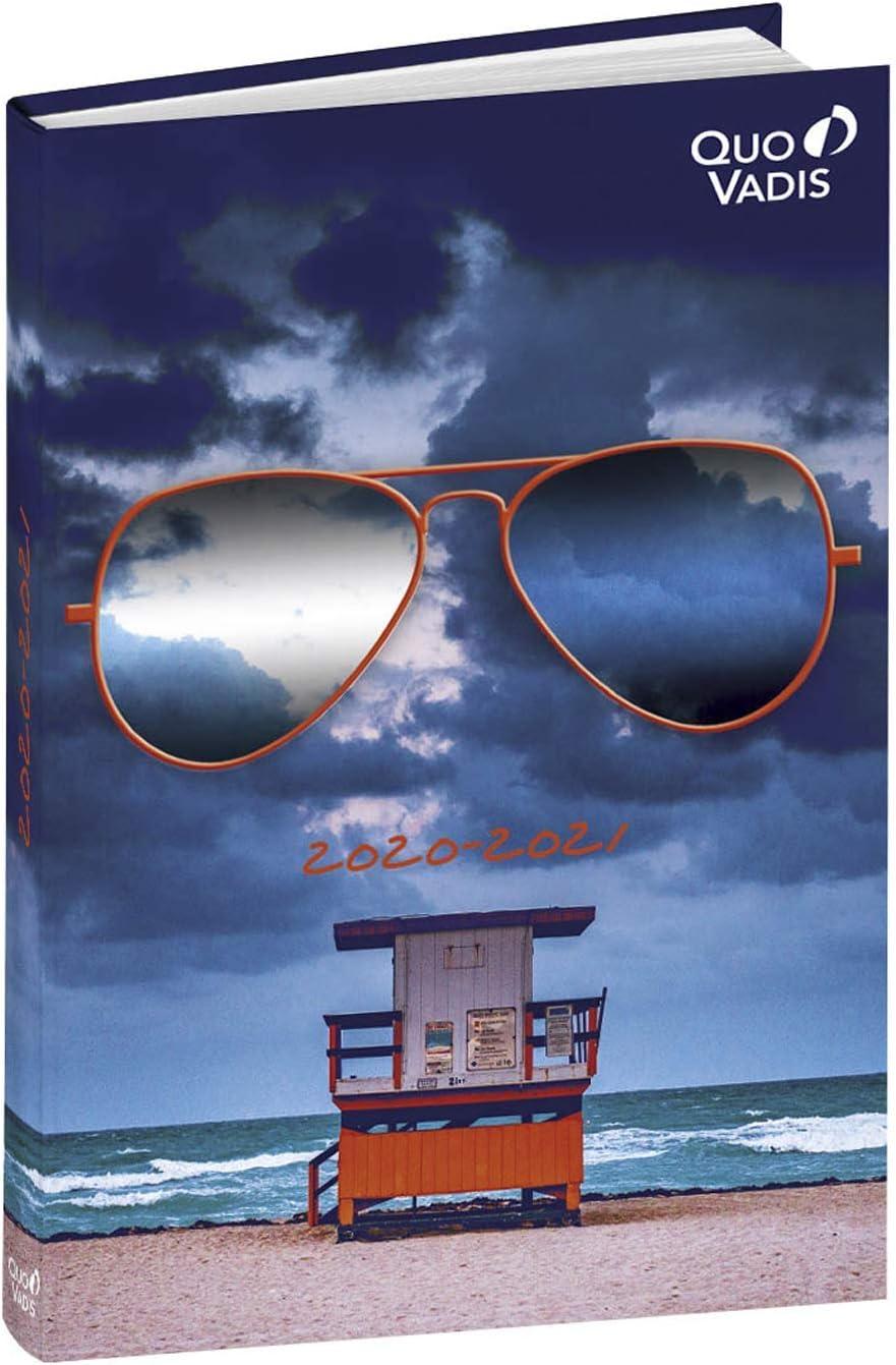 Quo Vadis 1281694Q DIARIO SCOLASTICO Anno 2020-2021 EUROTEXTAGENDA Multilingua Reflect occhiali 12x17cm-Giornaliera 12 MESI AGOSTO-LUGLIO