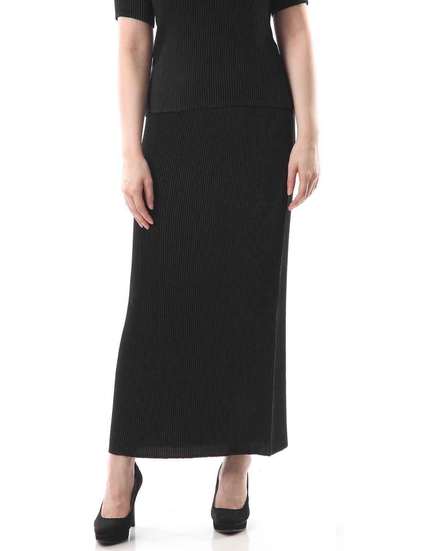 Maxi-Length Long Tight Pleated Skirt Womens S M L XL 2X 3X Black