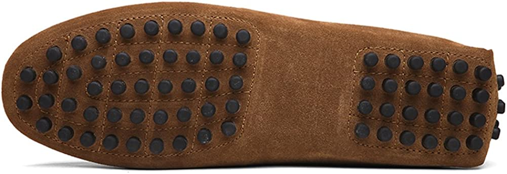 Yaer Herren Driving Loafers Flat Premium Slip-on Wildleder Mokassin Bootsschuhe