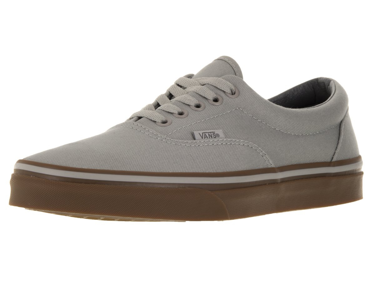 Vans Unisex Era Skate Shoes, Classic Low-Top Lace-up Style in Durable Double-Stitched Canvas and Original Waffle Outsole B01D9B7KL8 4 Men's / 5.5 Women's|Drizzle Gum Grey
