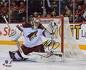 "Mike Smith Arizona Coyotes Autographed 8"" x 10"" Making Save Photograph - Fanatics Authentic Certified"