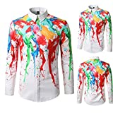 Shirts For Men, Clearance Sale !! Farjing Men's Autumn Casual Fashion Slim Fit Color Long Sleeve Shirt Top Blouse(XL,White )