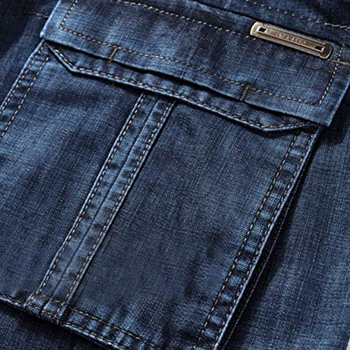 Stretch Jeans Stile Casual Slim Denim Tee Skinny Business Da Pantaloni Semplice Attillati Uomo Dunkelblau Fit SS7wr1