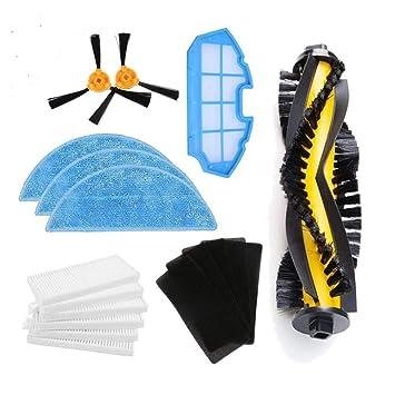 LIRR Kit de accesorios de limpieza para robots aspiradores Conga Excellence:cepillos laterales,cepillo central,filtro EPA,filtro malla,cepillo de ...