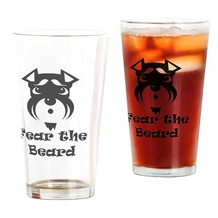 CafePress Fear The Beard Pint Glass, 16 oz  Drinking Glass