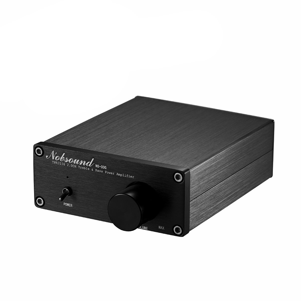 Nobsound Mini Dual TPA3116 Digital Power Amplifier HiFi Stereo Amp Audiophile-Grade 2.0 Channel 100W×2 with NE5532P Pre-Amp (Black) by Nobsound