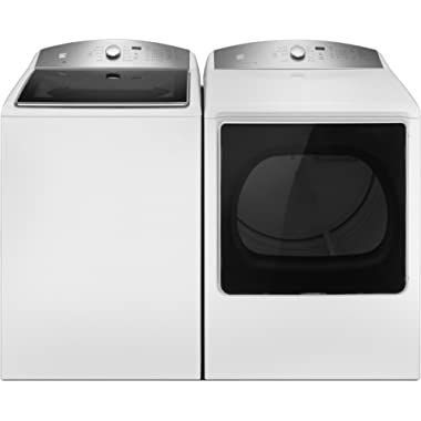 Kenmore 5.3 cu. ft. Top-Load Washer & Electric Dryer Bundle in White, includes delivery and hookup