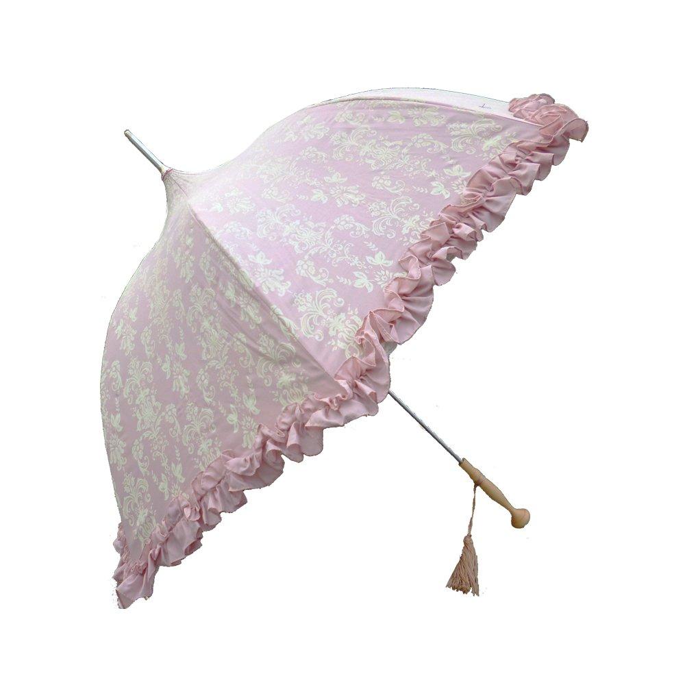 ラルイス アラベスク晴雨兼用傘 全3色 長傘 手開き 日傘/晴雨兼用 マドンナピンク 8本骨 55cm UVカット グラスファイバー骨 03AKS-WAR03MP [正規代理店品] B01825UUAEマドンナピンク