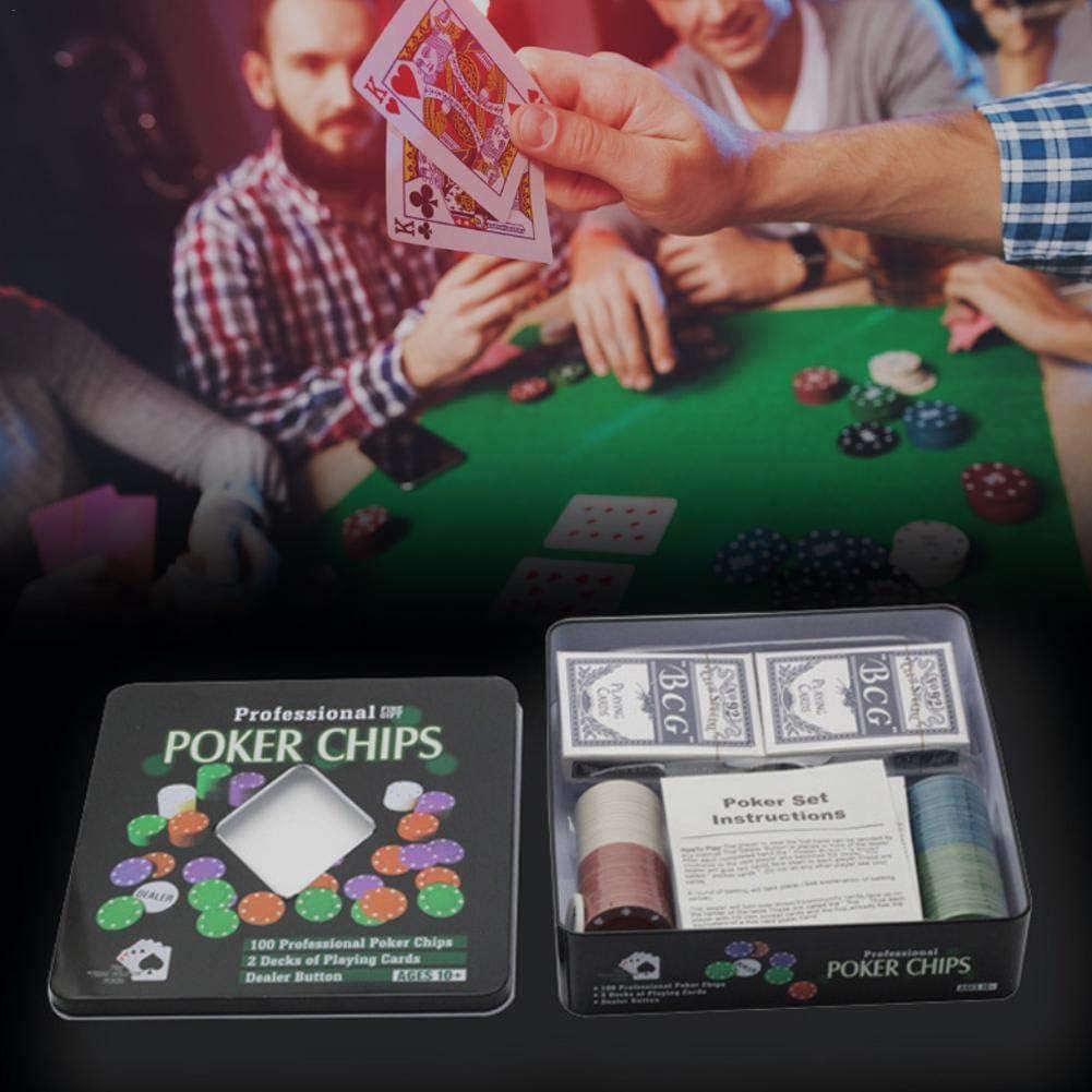 Wangyan 123 100 Chips Poker Chip Set Dice Style Casino Poker Chips For Texas Holdem Blackjack