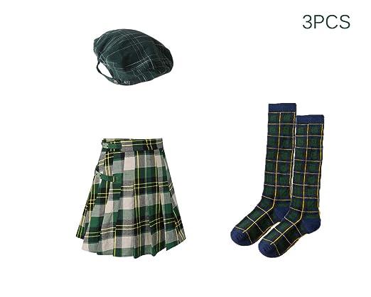 Traje Sombrero de Escocia Tartán Plano Gorra Boinas ...