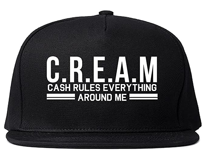 9d827db20e4 Kings Of NY Cream Cash Rules Everything Around Me Snapback Hat Black